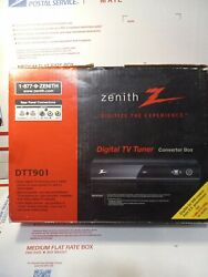 Zenith Dtt901 Digital Tv Tuner Converter Box Remote Cables New Fast Ship