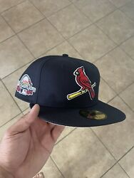 Navy New Era St. Louis Cardinals 2009 All Star Game Hat Size 7 1/4 Pink Uv