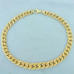 18 Inch Graduated Double Link Chain Necklace In 14k