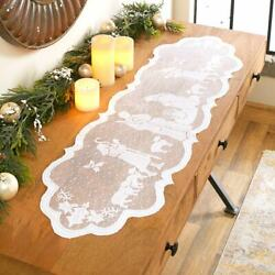 Silent Night Lace Mantel Scarf Or Centerpiece
