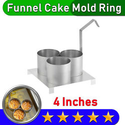 Funnel Cake Mold Ring | Triple Mini | 4 Diameter | Free And Fast Shipping