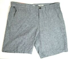 Menand039s Linden Flat Front Shorts - Goodfellow And Coandtrade Blue Gray W40 - 9 Inseam