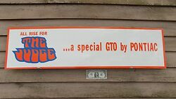 New Classic 1970and039s Pontiac Gto The Judge Dealer 3 Color Sign/garage Art1and039x46