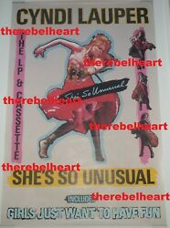 Cyndi Lauper 1983 Sheand039s So Unusual Us Subway Promo Poster Rolled 60x40 - Rare