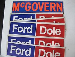 Lot Of Mcgovern Ford Dole Political Bumper Stickers President Politics Election