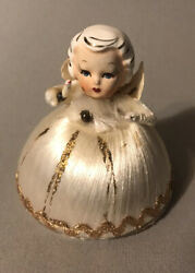 Vintage Japan Angel With Porcelain Head And Chenille And Spun Glass Body