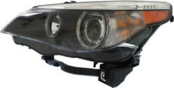 Left Driver Side Headlight Head Lamp For 2004-2007 Bmw 5 Series