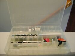 Testors Paints, Cleaner, Cements, Brushes, Plastic Guide Thinner +flambeau Case