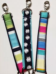 NEW Thirty One Wristlet Strap Hang It Up Key Fob Pick From 9 Prints $7.99