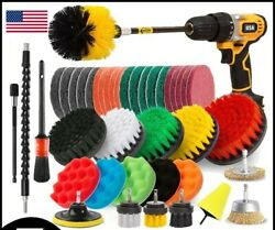 Brush Drill Set Scrubber Power Cleaning Attachment Kit Tile Grout Attachments Us