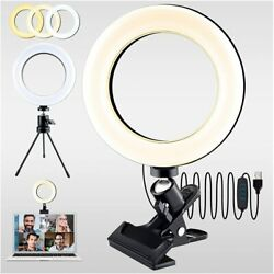 Led Selfie Ring Light With Tripod Standandcell Phone Clip For Makeup Live Stream