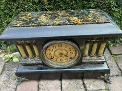 Antique Seth Thomas Clock Co 1880andrsquos 8 Day Time And Strike Mantel Repair Project