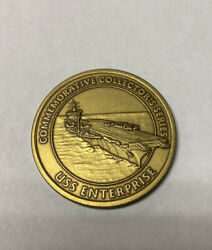 Veterans Of Of Foreign Wars Vfw Challenge Coin - Uss Enterprise
