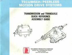 Tecumseh-peerless Motion Drive Systems - Transmission And Transaxle Quick Referenc