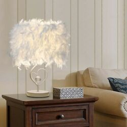 2021 Bedside Reading Room Sitting Room Heart Shape Feather Crystal Table Lamp