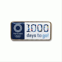 Tokyo 2020 Olympic Games Official 1000 Days To Go Licensed Noc Pin On Card 2021