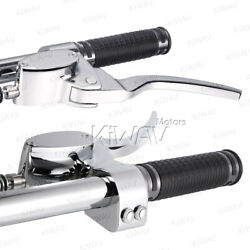 Billet Chrome Hand Control Master Cylinder 5/8 9/16 Bore Lever Switch 25mm Bar