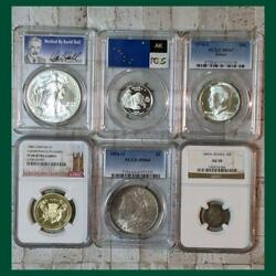 Antique. Modern Coin Silver Coin 6 Pieces Set Ngc.pcgs Appraisal Product
