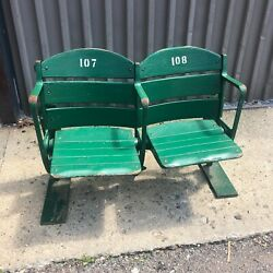 Vintage Pair Wrigley Field Stadium Seats From Private Collection 107 And 108