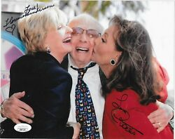 Florence Henderson And Dawn Wells Dual Signed 8x10 Photo Tv Beautiful Actress Jsa