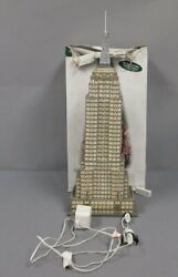 Dept 56 56.59207 Christmas In The City Illuminated Empire State Building Ex/box