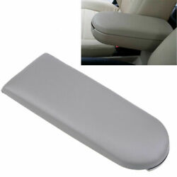 1x For Vw Volkswagen Car Center Console Armrest Cover Lid Parts Grey Leather New