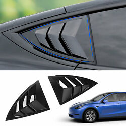 Fit Tesla Model Y 2020 2021 Rear Side Window Louvers Cover Blinds Accessories