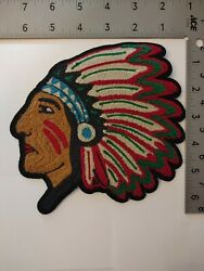 Polo Patches Brand New 6 Inch Indian Chief Patch