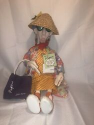 Vintage Hallmark 24 Poseable Cloth Talking Maxine Doll W/bag New With Tags