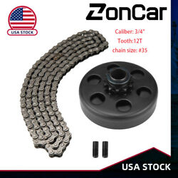 Engine 212cc Centrfugal Clutch For Go Kart 3/4 Bore 12 Tooth With 35 Chain Kit
