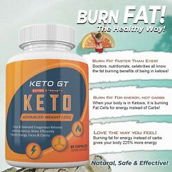 Keto GT Weight Loss Extra Strength 60 Capsules 1 month supply