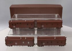 W And R Ho Brass Northern Pacific Mow Cars 4-car Set Ln/box