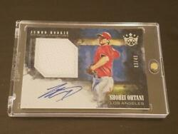 Shohei Ohtani 2018 Major First Year Enclosed Handwritten Sign Card 49 Serial