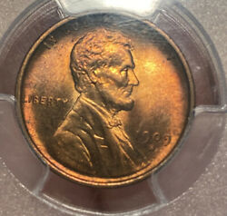 1909 S Lincoln Wheat Cent Pcgs Ms65rb Cac