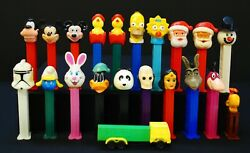 Collection Of 22 Vintage/current Pez Candy Dispensers