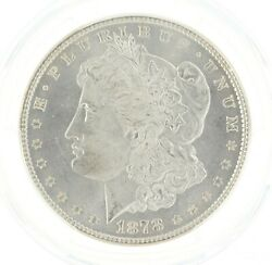 1878 7/8 Tail Feather Weak Morgan Dollar Pcgs Ms65 S1 Philadelphia Minted Coin