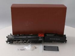 W And R Ho Brass Northern Pacific 4-8-4 Steam Locomotive And Tender W/ Sound Ex/box