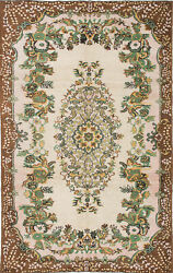 Hand-knotted Turkish Carpet 5and03911 X 9and0398 Antalya Vintage Traditional Wool Rug
