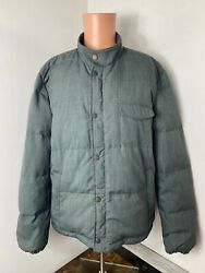 Faherty Menand039s Full Zip Pocket Lined Goose Down Jacket Coat Size 2xl Xxl Nwt