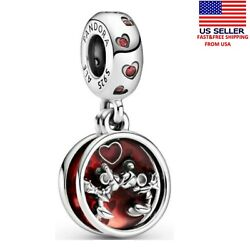Pandora Sterling Silver S925 Ale Disney Love And Kisses Dangle Charm