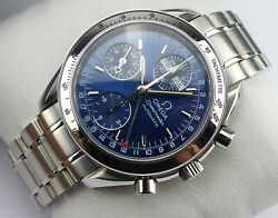 Omega Speedmaster Triple Date Chronograph - Blue Dial - Papers - 2008