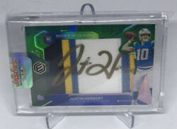 2020 Elements Justin Herbert Rookie Neon Signs Rookie Patch Auto /15 Chargers