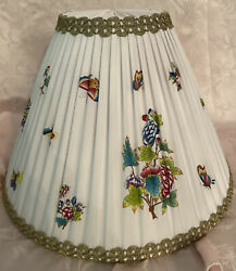 Herend Queen Victoria Hand Painted Silk Lamp Shade