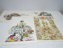George Finley Army War Prints 4 Pieces Ranger Commander Combat Arm - Used