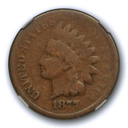 1877 1c Indian Head Cent Ngc G 6 Good To Very Good Key Date Looks Better
