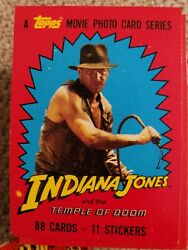 Indiana Jones Raiders Of The Lost Ark And Temple Of Doom Complete Card Sets Topps