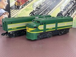 """Lionel 6-8452 Powered """"a"""" And 6-8453 Dummy """"b"""" Erie Alco Diesels O Gauge C7 And C8"""