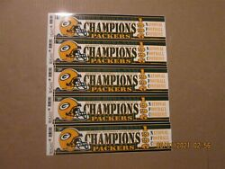 Nfl Green Bay Packers Vintage Lot Of 5 1996 Nfc Champions Logo Bumper Stickers