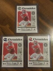 2020 Henry Ruggs Iii Panini Chronicles Rc Lot Blue Red And Base Variations
