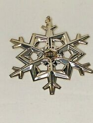 Vintage Gorham 1989 Sterling Silver Christmas Snowflake Ornament W/gold Filled